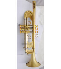 Professional new Heavy Matt Trumpet horn Bb Germany Brass 5-1/4''Bell With Case