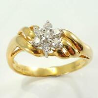 18 Carat Gold Diamond Cluster Ring - 0.25 Carat