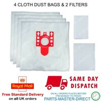 FITS FJM MIELE VACUUM CLEANER COMPACT C2 CAT&DOG SDBF3 DUST BAGS x 4 2 FILTERS