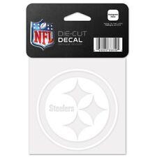"Pittsburgh Steelers 4"" x 4"" White Logo Truck Car Auto Window Die Cut Decal New"
