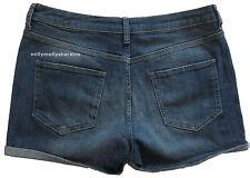 Nueva camiseta para mujer Marks & Spencer Azul Denim Shorts Tamaño 12 etiqueta falla
