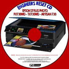 EPSON PX730WD TX730WD ART 730 almohadilla de tinta de impresora de residuos SATURATED Contador error Fix