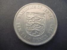 Jersey Dieci Pence Moneta 1975, Rame-Nichel 1975 Jersey 10P Oggetto