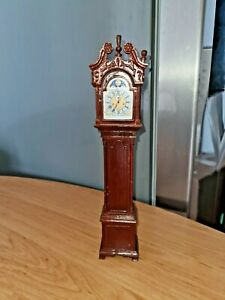 FRANKLIN MINT COLLECTION RARE MINIATURE COLONIAL GRANDFATHER CLOCK