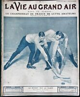 1908 French Sports Magazine w Hockey Auto Racing Wrestling Cross Country & more