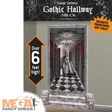 Spooky Gothic Hallway Scene Setter Halloween Fancy Dress Party Decorations New