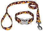 Country Brook Petz® Premium Burgundy and Gold Camo Dog Collar and Leash