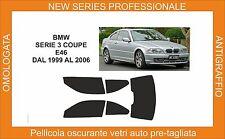 pellicola oscurante vetri pre-tagliata Bmw serie 3 coupe E46 da 1999 a 2006 comp