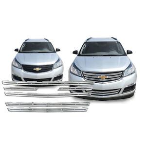 2013-2017 Chevrolet Traverse LS Chrome Plastic 6 Pc. Grille Insert # GI/117 NEW