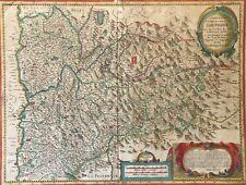 Dauphiné et provinces voisines de Jean de Beins éditée par Jean Blaeu en 1631