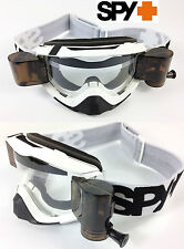 SPY Optics KLUTCH Motocross MX Occhiali Bianco con gsvs ROLL Offs fumo BOMBOLETTA