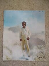 Vintage Johnny Mathis Show Program Book With Ticket Stubs
