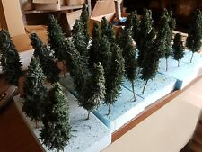 5 x SCRATCH BUILT PINE CONIFER TREES APPROX 1/35 SCALE **FREE SHIPPING**