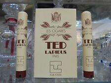 """TED LAPIDUS pour homme """"LES CIGARES"""" EDT 2 pieces 15+15 ml spray VINTAGE RARE"""
