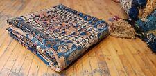 """Bohemian Vintage 1950-1960s Natural Henna Dye Wool Pile Oushak Rug 5'3""""×9'10 """""""