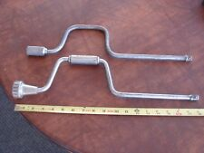 "2 Vintage Craftsman & Indestro  1/2"" Drive Speed Handles Socket Wrench Tool Lot"