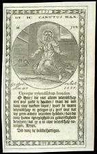 santino incisione 1600 S.CANUTO RE DI DANIMARCA M.