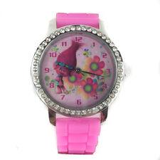Trolls Poppy Watch with Rhinestones & Silicone Band Analog Watch