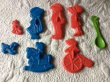 Vintage Plastic Holly Hobbie American Greetings Cookie Cutters Lot Of 8