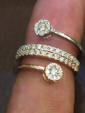 Pave 0.85 Cts Round Brilliant Cut Natural Diamonds Engagement Ring In 14K Gold