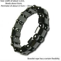 Perte de poids ronde en pierre noire Soins de santé Bracelet de thérapi_FRQCfw
