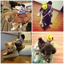 Pets Funny Cowboy Rider Clothes Dogs Cats Cosplay Costume Accessories