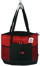 Cardiac Heartbeat Bag Red Gemline Zipper Tote Doctor Nurse Paramedic Monogram