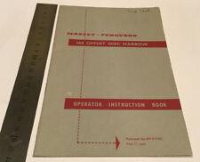 Massey Ferguson Original 765 Offset Disc Harrow Instruction Manual/Book
