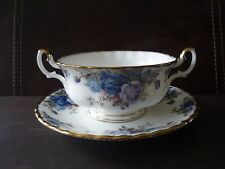 Royal Albert Moonlight Rose Cream Soup Bowl Whit Underplate Bone China England