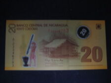 NICARAGUA 20 CORDOBAS 2012 NEW -  WHITE NUMBERING - POLYMER UNCIRCULATED