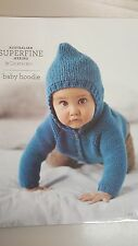 Cleckheaton Pattern #419 Baby Hoodie to Knit with Superfine Merino Wool
