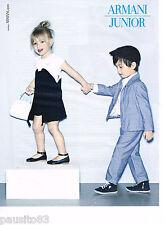 PUBLICITE ADVERTISING 075  2011  ARMANI JUNIOR  mode haute couture enfants