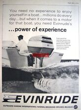 1964 'EVINRUDE' Outboard Motors Advert - Vintage Photo Print AD
