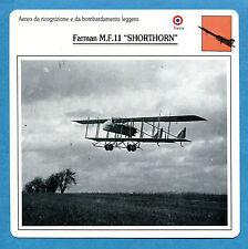 SCHEDA TECNICA AEREI - FARMAN M.F.11 SHORTHORN - (FRANCIA)