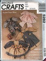 McCalls 5282 Faye Wine Bunny Wraps Pattern UNCUT Easter spring plush clothes VTG