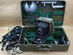 GRAFLEX US Signal Corps Military Still Picture Camera KE-12 (1) w/ Cas KS-4A (1)