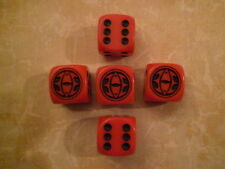 5x cubo/dice 15mm de Sauron ojo * Combat Hex/señor de los anillos/LOTR/HDR