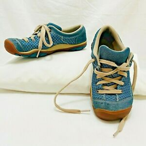 Keen Mercer Lace II Blue suede & textile casual sneakers Womens US 7 1012359 wow