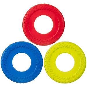 Heavy Duty Dogs Flying Disc Toy WHEEL Design Tough Soft Silicon Select Colour