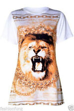 Viscose Animal Print Plus Size Graphic T-Shirts for Women