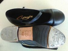 tap dancing shoes children size 4 1/2 black. Capezios, non slip, leather.