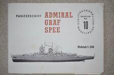 Bauplan Panzerschiff Admiral Graf Spee