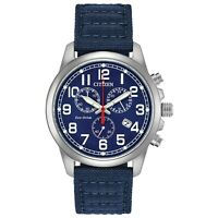 Citizen Eco-Drive Men's Chronograph Blue Dial Date Display 39mm Watch AT0200-21L