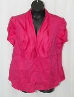 NWT WORTHINGTON Sateen Blouse Pink Top V Neck Career Casual Plus Womens 2X 0309