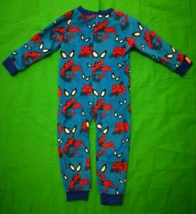Ultimate Spiderman Boy's All In One Bodysuit Blue Age Year 4 Soft Marvel- 004