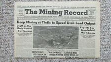 1947 Mining Record-Silver Plume & Idaho Springs Colorado Gold Mines-Tintic Utah