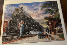 Masterpieces The Art Of Dan Hatala Whistle Stop Train 1000 Piece Jigsaw Puzzle