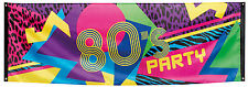 années 80 ans Fête Bannière 220x74cm NEUF - accessoires fête décoration carnaval