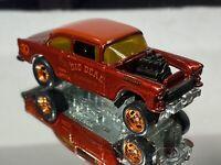 hot wheels 55 chevy bel air gasser Custom Color Favorites Real Riders 1/64