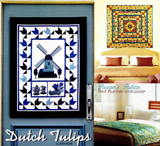 Dutch Tulips , Royal Interlude,Painter's Palette Bed Runner   Quilt pattern only